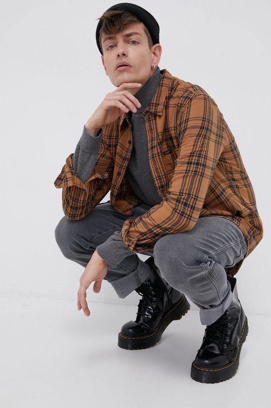 brązowy Lee - Koszula bawełniana Męski