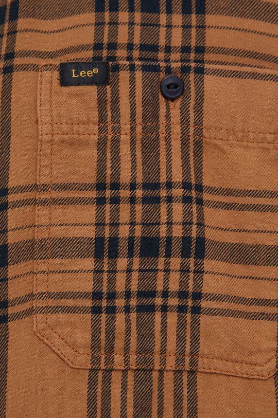 Lee - Koszula bawełniana brązowy