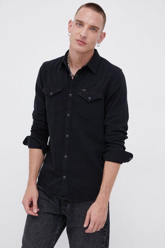 μαύρο Lee - Βαμβακερό πουκάμισο Ανδρικά
