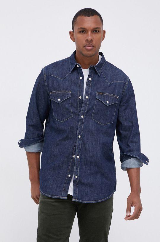 granatowy Lee - Koszula jeansowa Męski