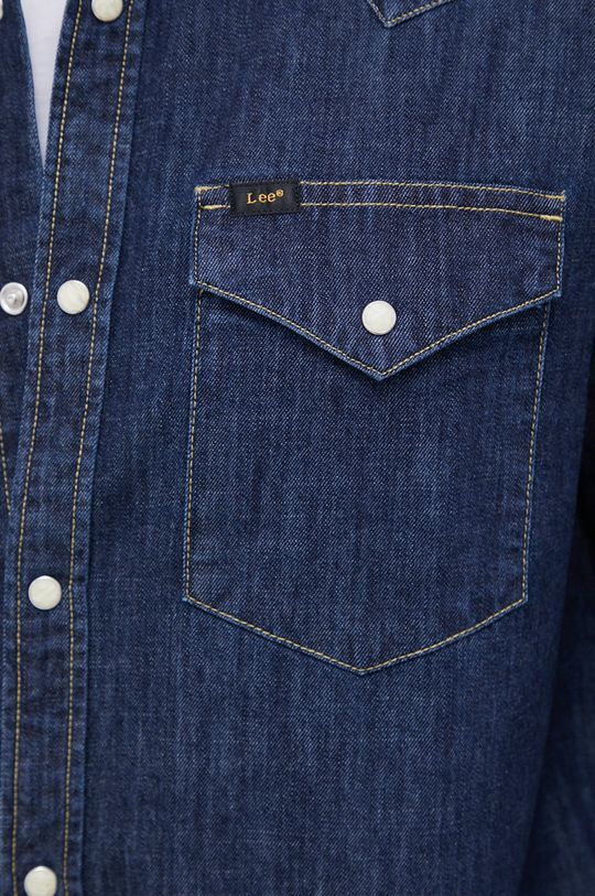 Lee - Koszula jeansowa granatowy