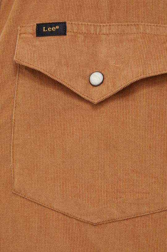 Lee - Koszula sztruksowa brązowy