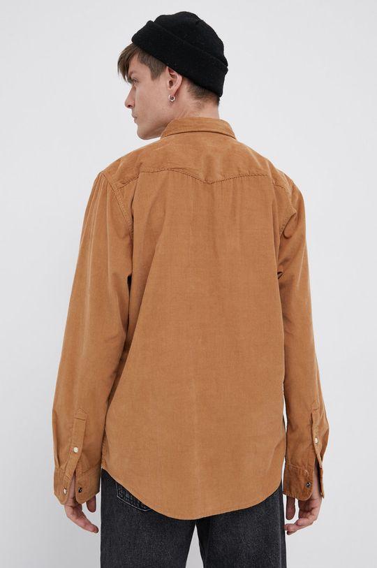brązowy Lee - Koszula sztruksowa
