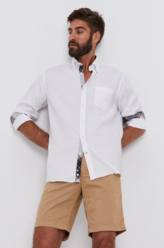 bílá PAUL&SHARK - Bavlněné tričko Pánský