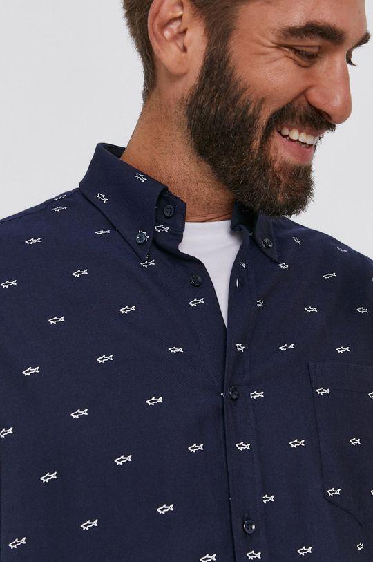 námořnická modř PAUL&SHARK - Bavlněné tričko Pánský