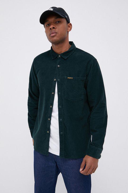 ciemny zielony Billabong - Koszula sztruksowa Męski
