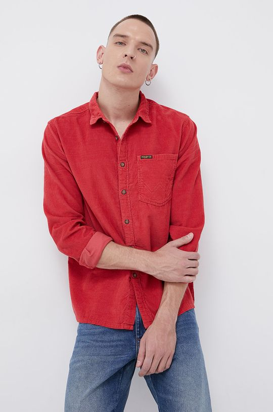 czerwony Billabong - Koszula sztruksowa x Wrangler Męski
