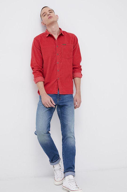 Billabong - Koszula sztruksowa x Wrangler czerwony