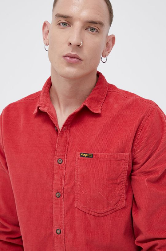 czerwony Billabong - Koszula sztruksowa x Wrangler