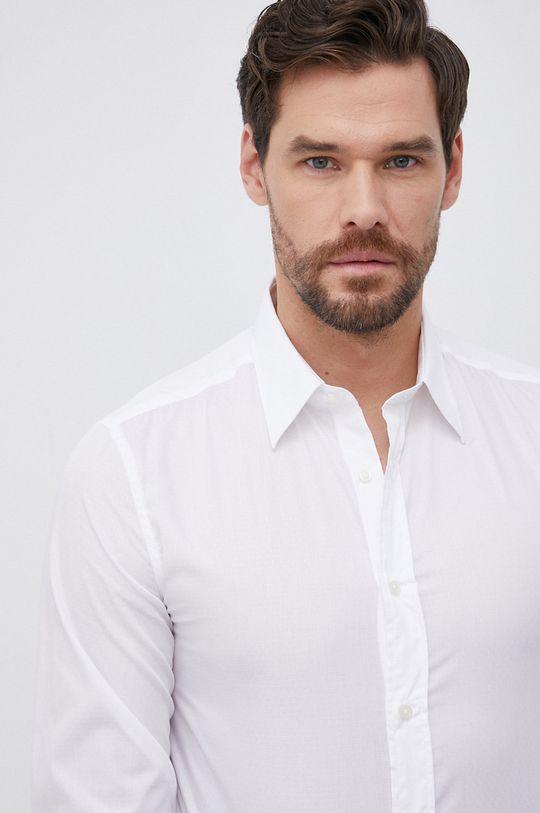 biały United Colors of Benetton - Koszula bawełniana Męski