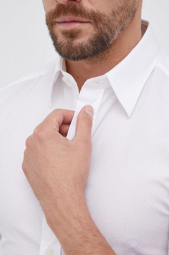 United Colors of Benetton - Koszula bawełniana biały