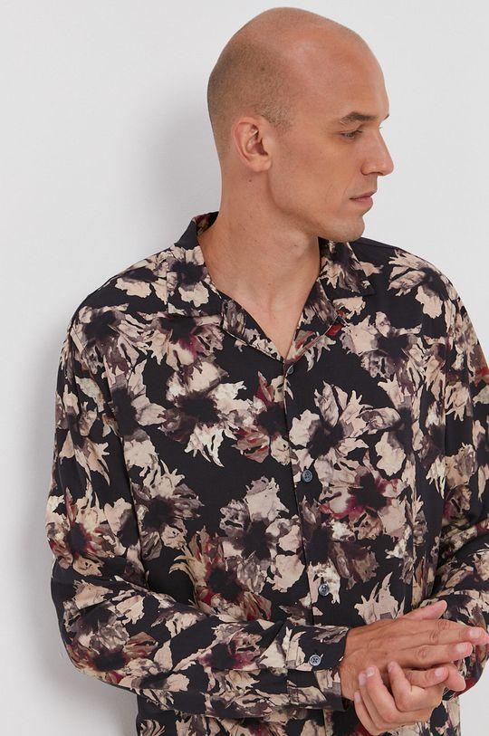 czarny AllSaints - Koszula Męski