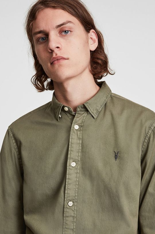 AllSaints - Koszula jasny oliwkowy