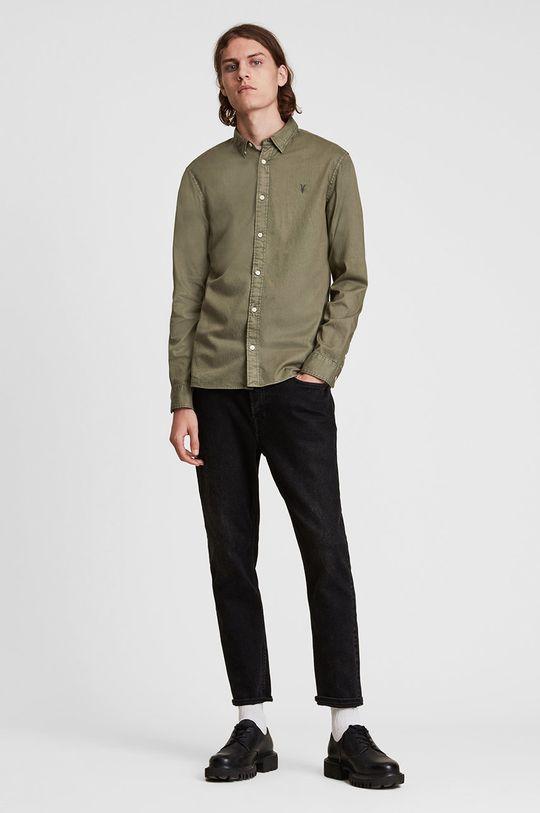 AllSaints - Koszula 98 % Bawełna, 2 % Elastan