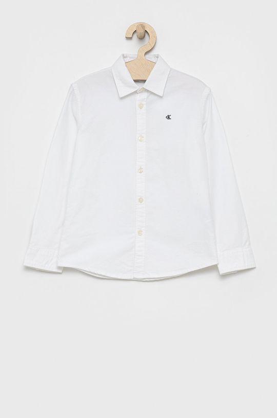 biały Calvin Klein Jeans - Koszula bawełniana dziecięca Chłopięcy
