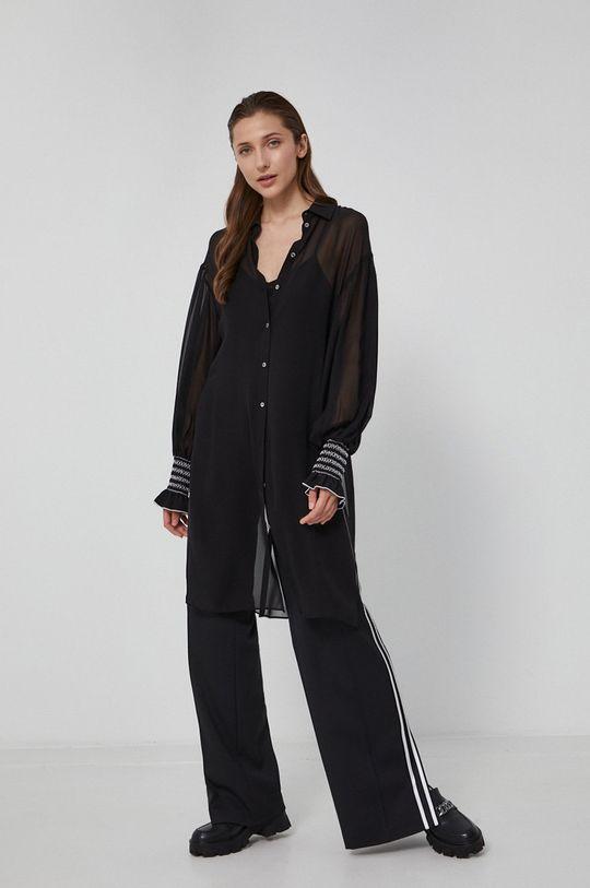 Karl Lagerfeld - Koszula jedwabna czarny