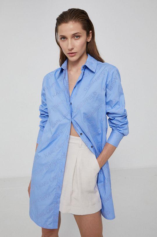 jasny niebieski Karl Lagerfeld - Koszula bawełniana Damski