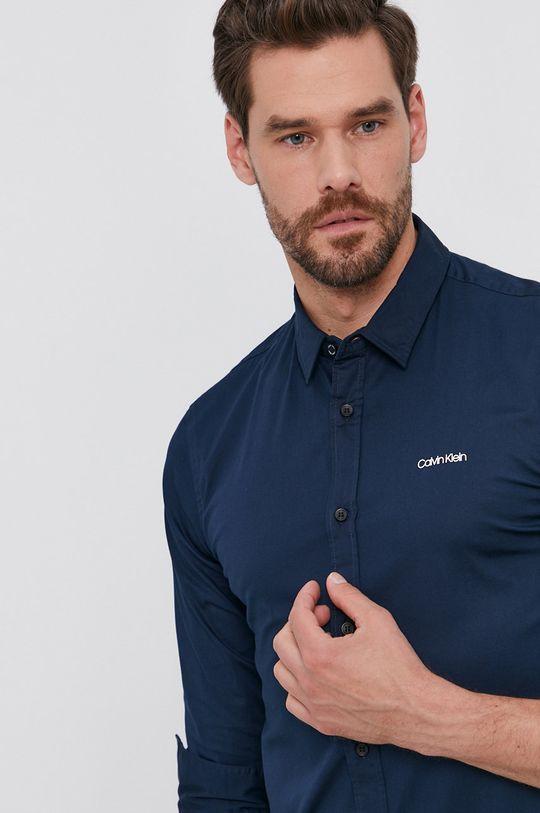 granatowy Calvin Klein - Koszula Męski