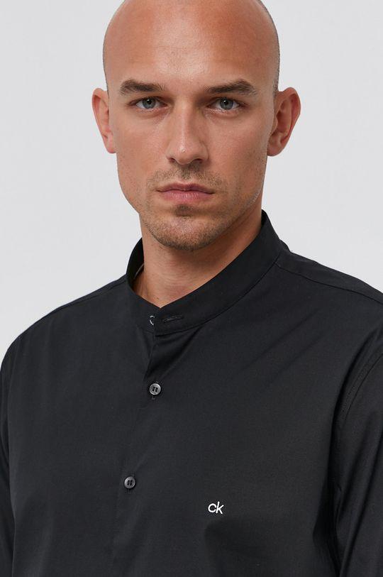 czarny Calvin Klein - Koszula K10K107343.4890 Męski