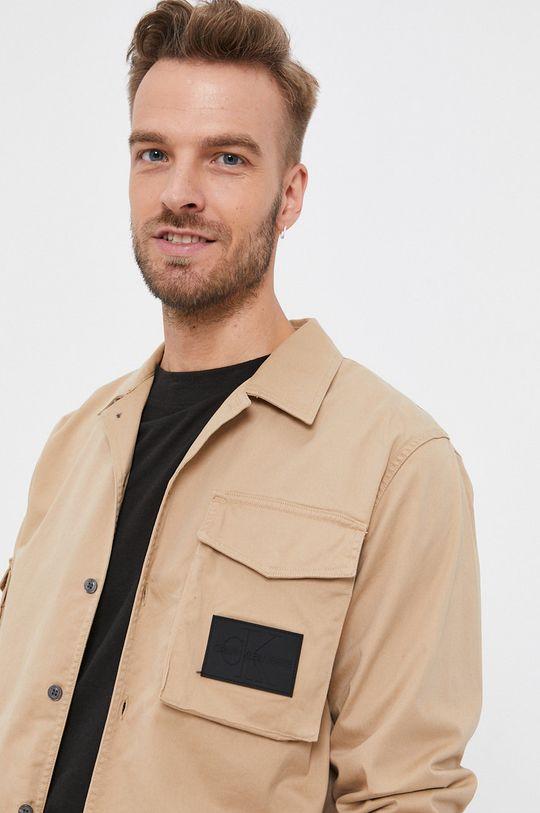 pszeniczny Calvin Klein Jeans - Koszula Męski