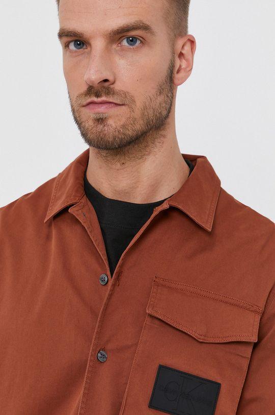 złoty brąz Calvin Klein Jeans - Koszula