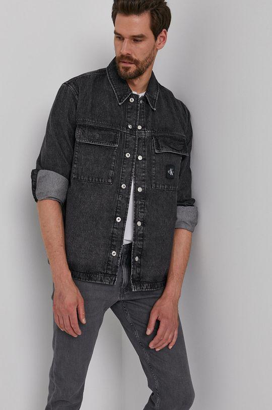 czarny Calvin Klein Jeans - Koszula jeansowa Męski