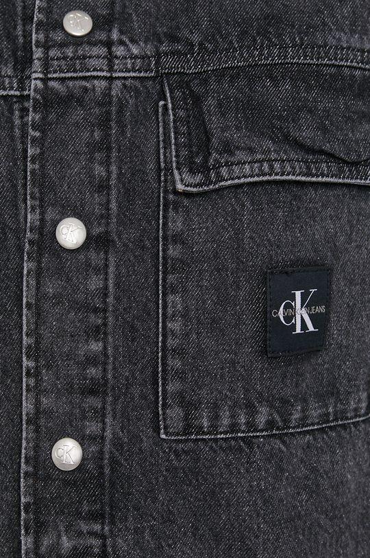 Calvin Klein Jeans - Koszula jeansowa czarny