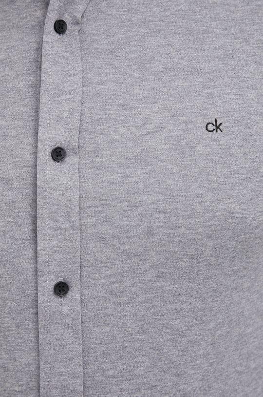 Calvin Klein - Koszula bawełniana jasny szary