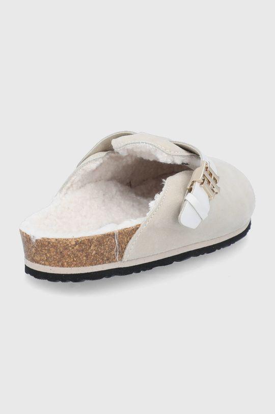 Tommy Hilfiger - Kapcie zamszowe Cholewka: Skóra naturalna, Wnętrze: Materiał tekstylny, Podeszwa: Materiał syntetyczny