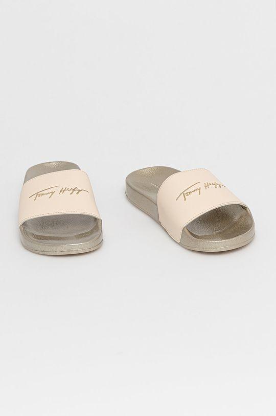 Tommy Hilfiger - Šľapky krémová