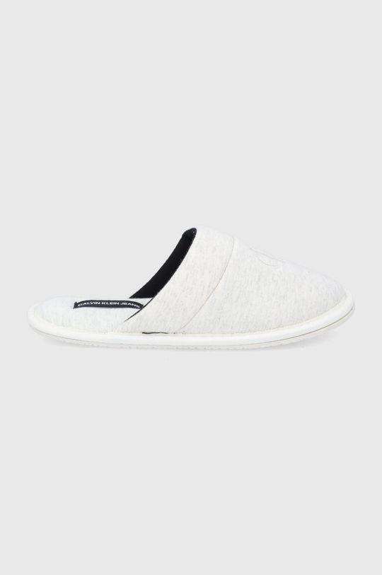 kremowy Calvin Klein Jeans - Kapcie Damski