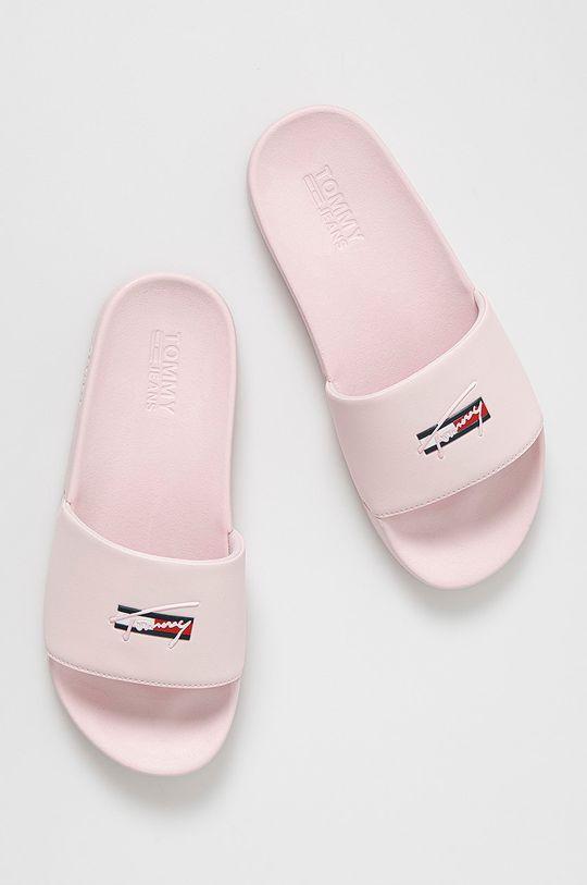 Tommy Jeans - Klapki pastelowy różowy