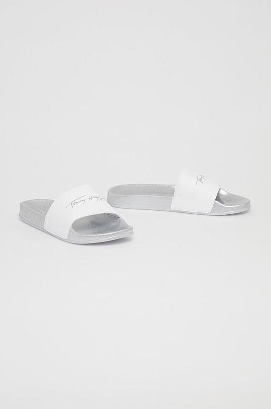 Tommy Hilfiger - Pantofle stříbrná