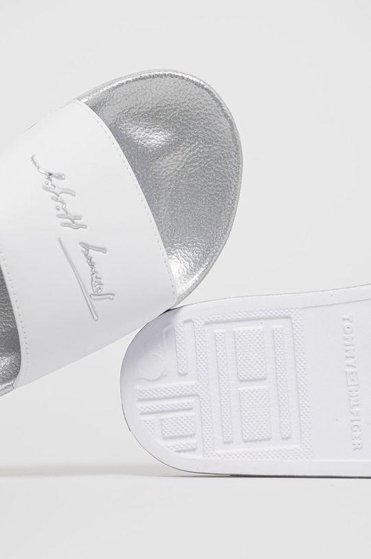stříbrná Tommy Hilfiger - Pantofle