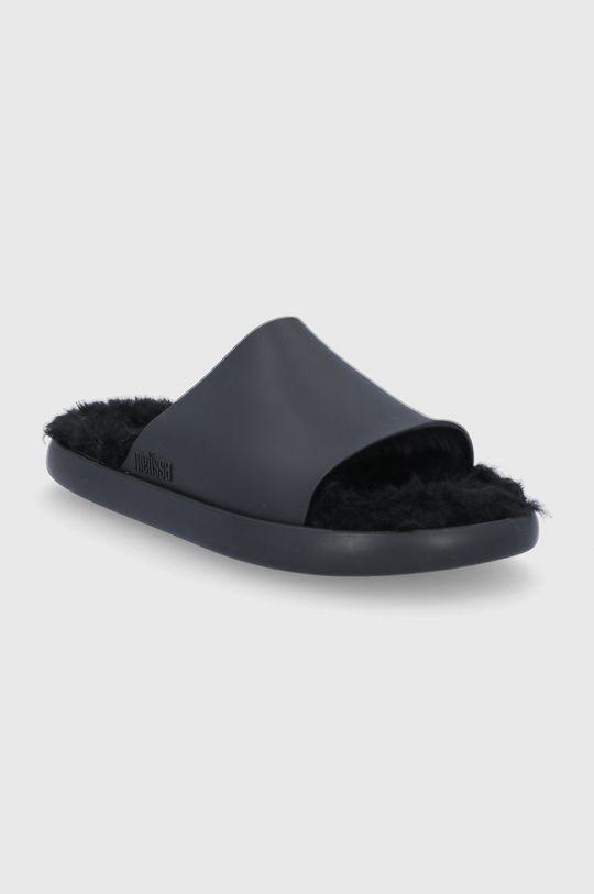 Melissa - Pantofle Fluffy černá