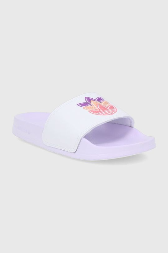 adidas Originals - Klapki Adilette biały