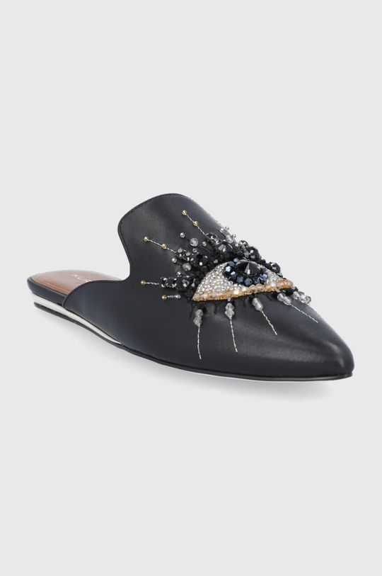Kurt Geiger London - Kožené pantofle černá