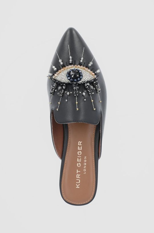černá Kurt Geiger London - Kožené pantofle