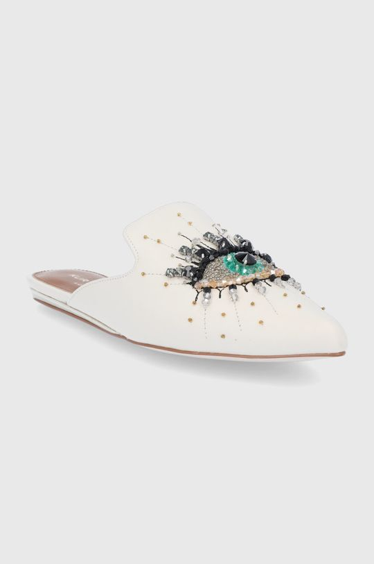 Kurt Geiger London - Kožené pantofle Olive Eye tělová