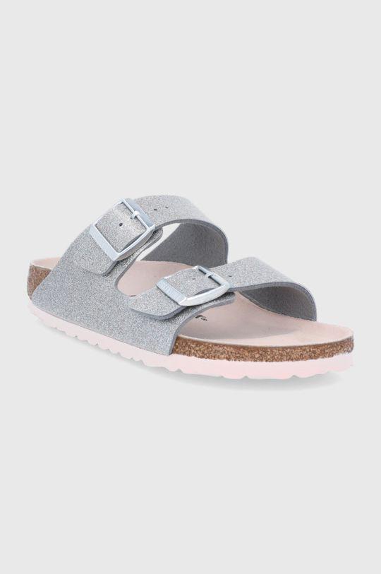 Birkenstock - Pantofle Arizona stříbrná