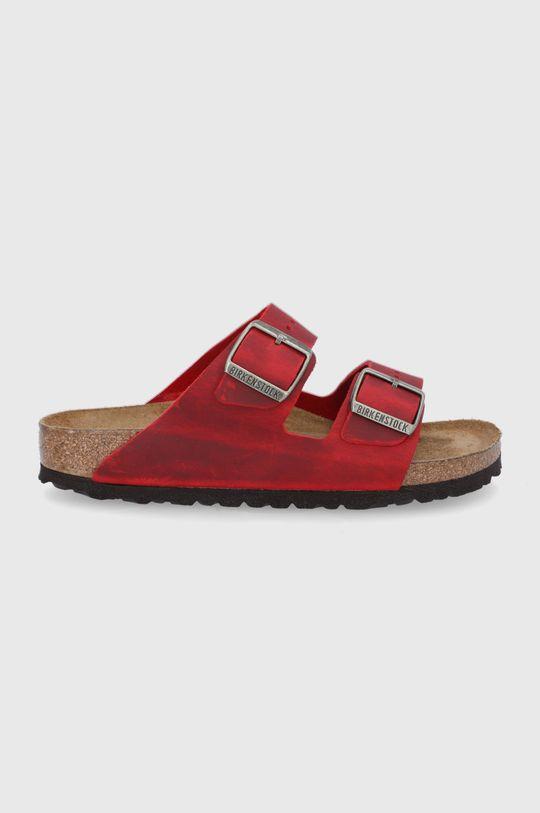 czerwony Birkenstock - Klapki skórzane ARIZONA Damski