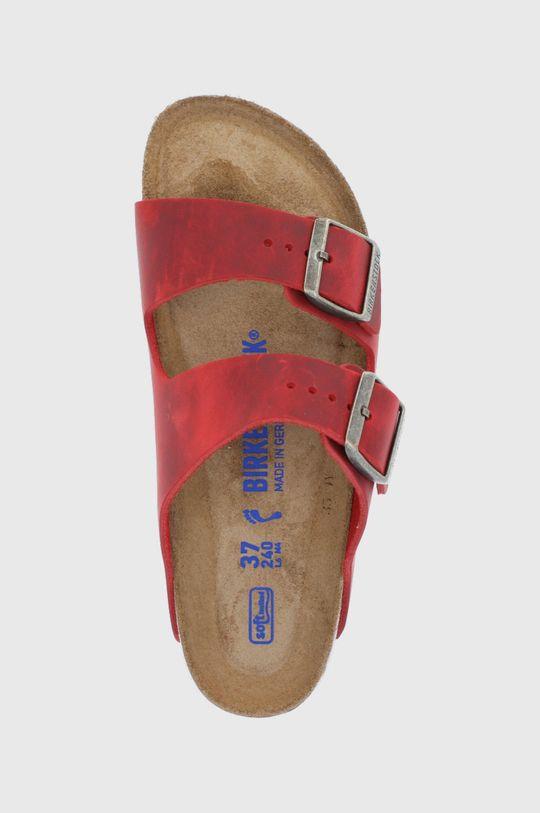 czerwony Birkenstock - Klapki skórzane ARIZONA