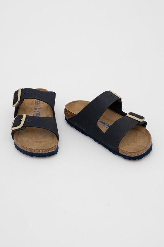 Birkenstock - Semišové pantofle Arizona černá
