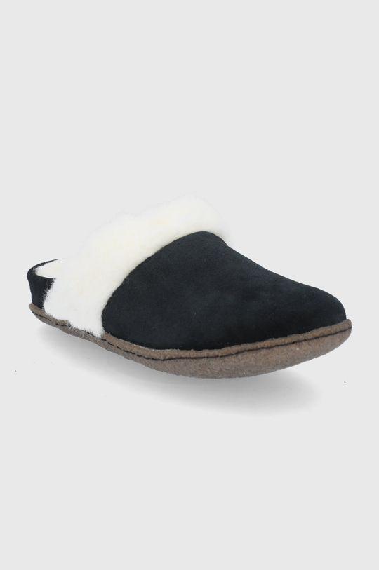 Sorel - Kapcie zamszowe Nakiska Slide II czarny