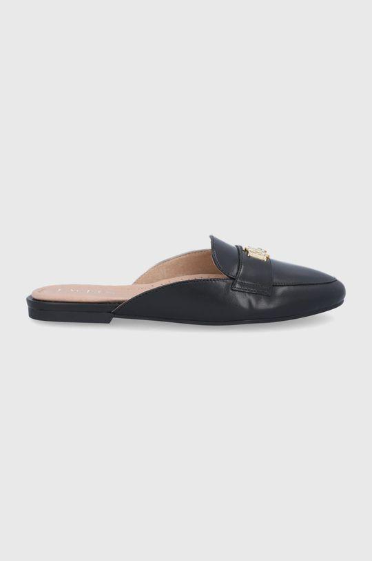 černá Lauren Ralph Lauren - Kožené pantofle Alli Dámský