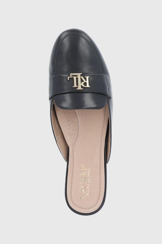 černá Lauren Ralph Lauren - Kožené pantofle Alli