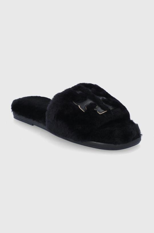 Tory Burch - Kožené papuče čierna