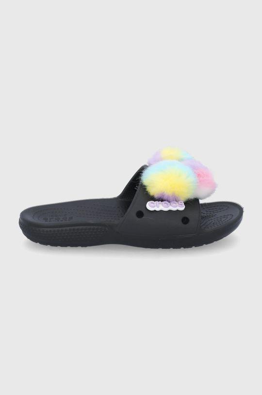 czarny Crocs - Klapki Classic Fur Sure Slide Damski