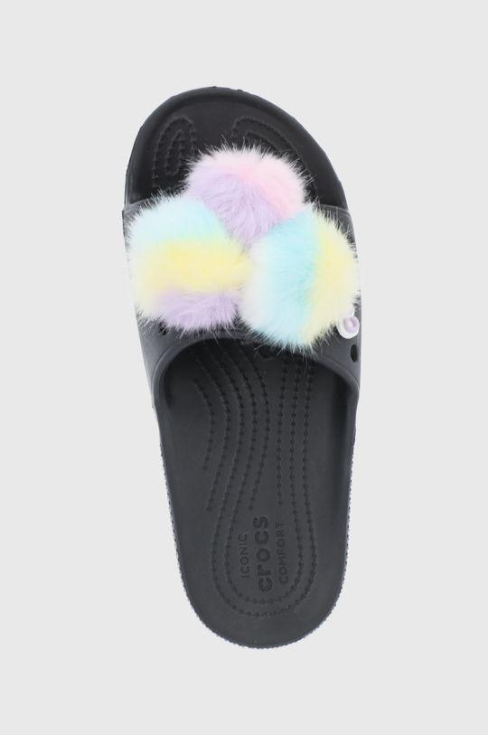 czarny Crocs - Klapki Classic Fur Sure Slide