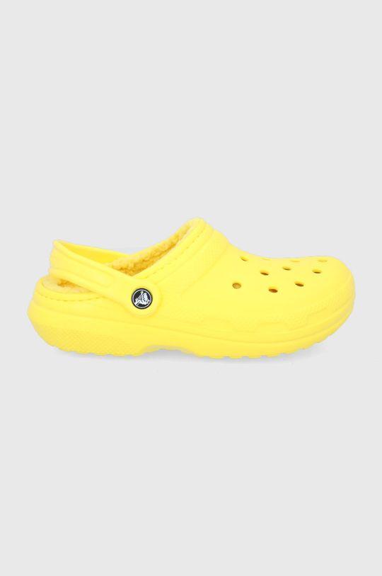 żółty Crocs - Kapcie Damski
